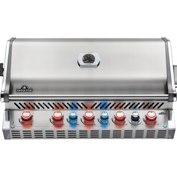 BUILT-IN BARBECUE NAPOLEON PRESTIGE PRO 665 WITH INFRARED REAR BURNER STAINLESS STEEL