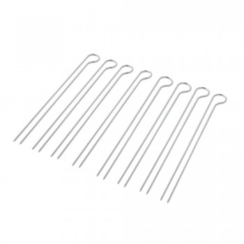 SET OF 8 DOUBLE PRONGED LARGE SKEWERS WEBER