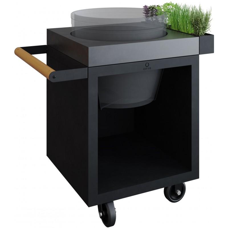 OFYR KAMADO TABLE BLACK 65 PRO CONCRETE
