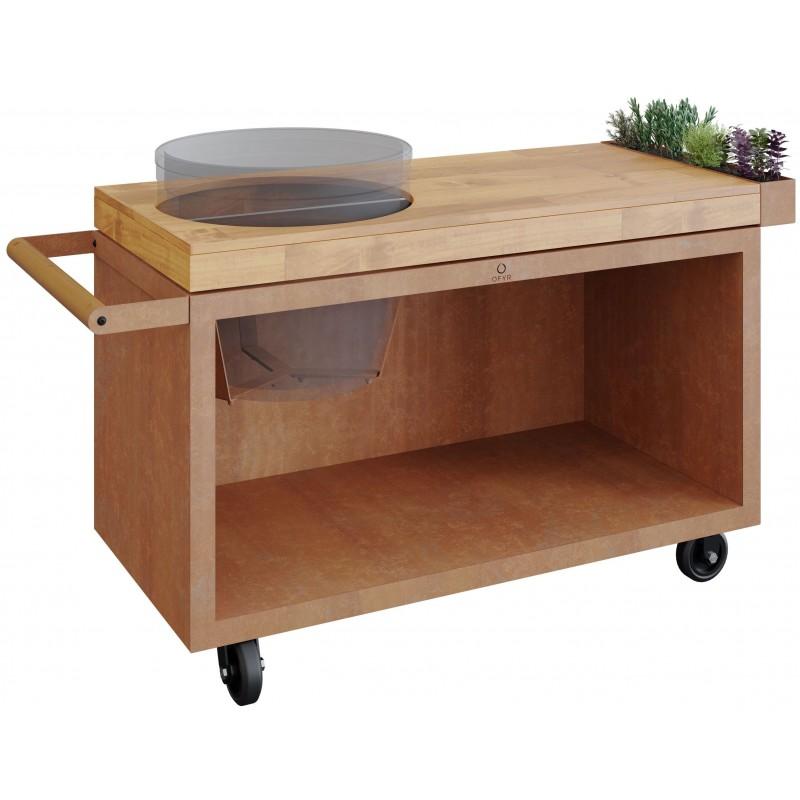 OFYR TEAK TABLE PRO FOR BIG GREEN EGG