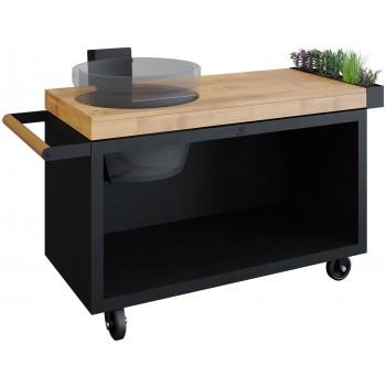 OFYR TABLE BOIS DE TECK PRO BLACK POUR KAMADO JOE