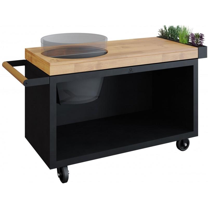 OFYR TEAK TABLE PRO BLACK FOR BIG GREEN EGG