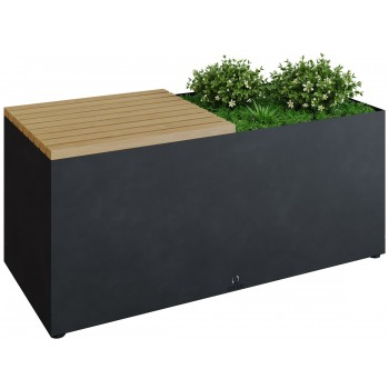 HERB GARDEN BENCH OFYR BLACK HG-BB