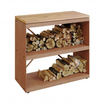 WOOD STORAGE DRESSOIR OFYR WITH 2 SHELVES WS-D