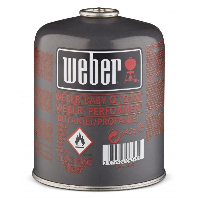 BOTELLA DE GAS WEBER PEQUEÑA 445GR