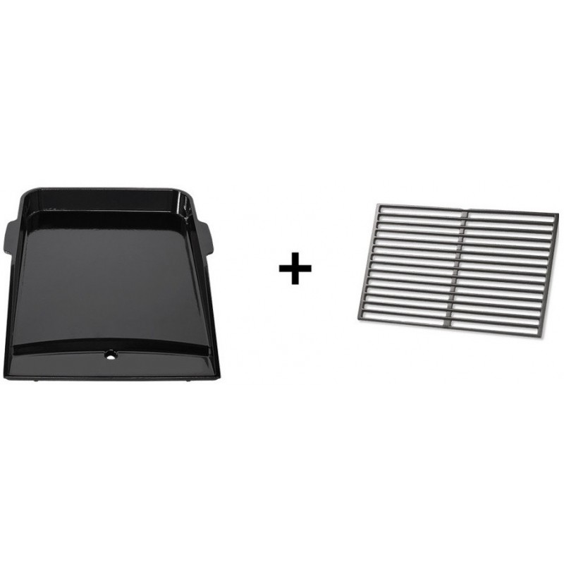 CAST IRON GRIDDLE AND COOKING GRATE SET FOR GENESIS II WITH 3 BURNERS
